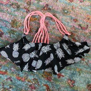 Pink Victoria's Secret Ruffle Bikini Top Pineapple